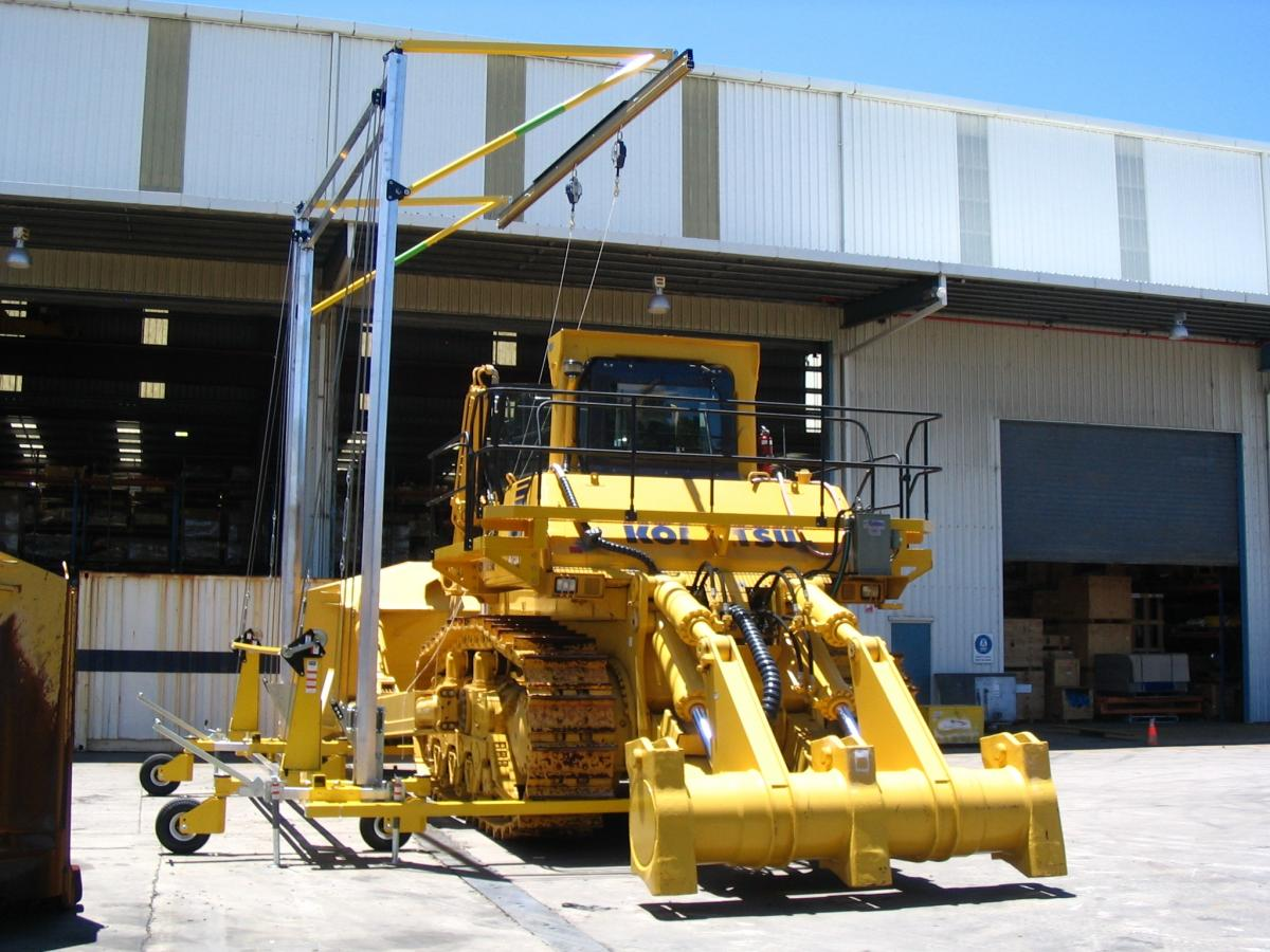 Portable Mobile Fall Protection Systems for Heavy Equipment Maintenance