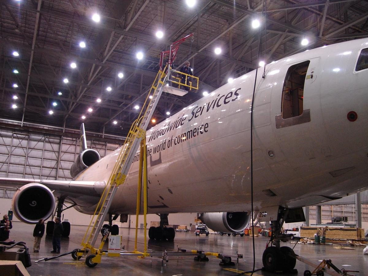 Portable Fall Protection Solutions for Aircraft Maintenance