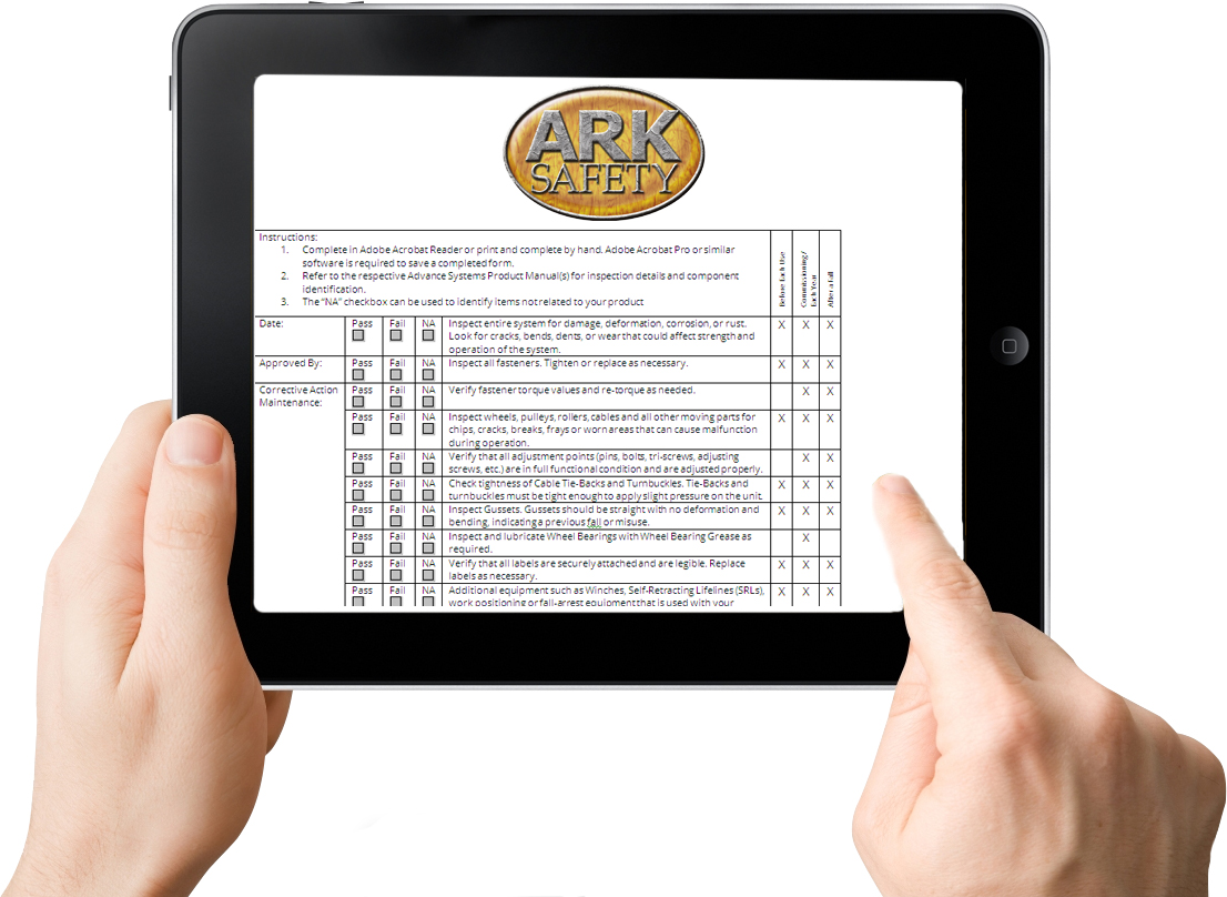 Fall Safety IPad Tablet Computer App