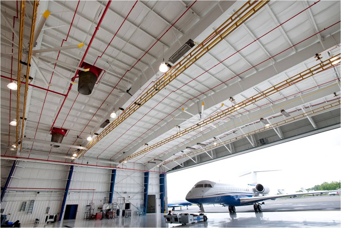 Fixed In Hangar Aviation Fall Protection for Heavy Aircraft