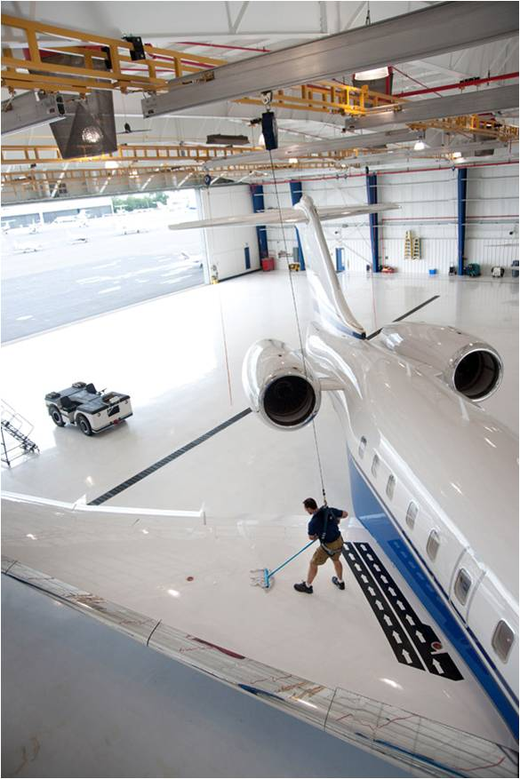 Aircraft Hangar Fall Protection System by Ark Safety