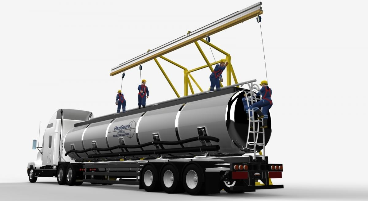 Transportation Industry Fall Protection for Tanker Trucks
